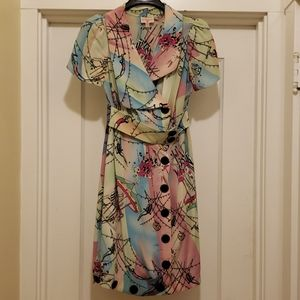 The cutest silk plenty by Tracy Reese circus dress
